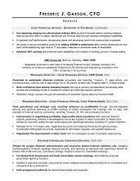 Cfo Sample Cfo Resumes Great Professional Resume Resume Template Ideas