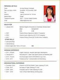 8 Sample Of Curriculum Vitae For Job Application Pdf - Basic Job inside Sample  Resume For