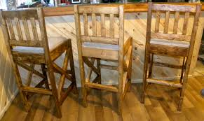 white rustic bar stools.  Rustic Rustic Bar Stools With White I