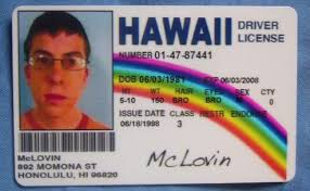 Id Mclovin Superbad Not Fake Popscreen On Novelty Fogel Card