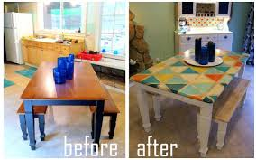 painting kitchen table makeovers paint a tables amusing tile top