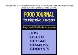 Food Journal Online Free Food Journal For Digestive Disorders Keep Record Of