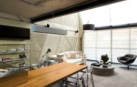 Home Interiors:Interior Design With Industrial Style Of The Great Black And  White Stylish Industrial
