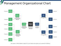 Management Organizational Chart Powerpoint Slide Backgrounds
