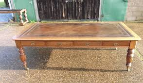 large antique victorian oak desk 8ft late 19th century oak library partners writing desk or boardroom table