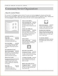 Community Services Directory Word Excel Templates