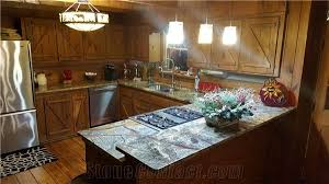 beautiful rain forest green marble countertops for a log cabin