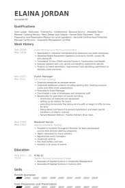 example resume banquet resume sample nice banquet resume sample banquet captain resume