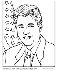Small Picture Free printable President Bill Clinton coloring pages Educational