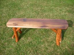 log rustic furniture amish. Rustic Log Sassafras Farm Backless Bench With Walnut Top - Amish Made In The USA. Furniture