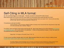citations in mla format citing yourself citing your previous work in mla or apa format
