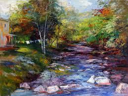 high chroma painting wash day 36x48 by michael harding ambassador george gallo