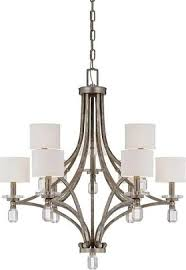 savoy house filament 9 light chandelier in silver dust upc 822920241963