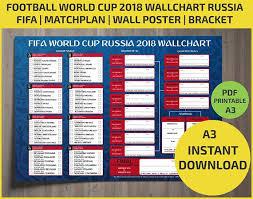 World Cup Russia Wall Chart Wallchart Fifa 2018 World Cup Russia Pdf Printable