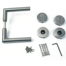 l shaped door handle set