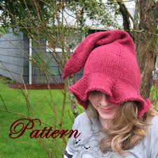 Elf Hat Pattern Gorgeous Womens Witch Or Elf Hat Pattern Adult Hat Pattern On Luulla