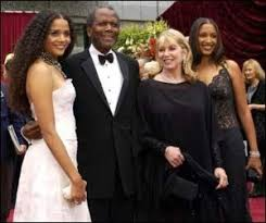 Sidney poitier rose to a position of international eminence from a childhood of poverty in the bahamas, where he spent the first years of his life on a tiny island, without electricity or running water. Sidney Poitier Wife And Daughters Sydney And Anika Celebrity Families Celebrity Couples Famous Couples