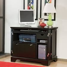 Hidden Printer Cabinet Black Computer Armoire Home Office Desk Tips