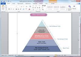 Microsoft Word Diagram Templates Pyramid Diagram Templates For Word