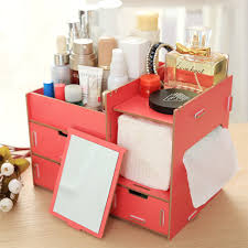 Decorative Storage Boxes With Drawers Drawer Wooden Decorative Storage Boxes Creative Diy Cosmetic 26