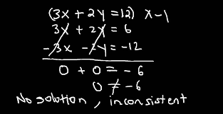 system of equations one solution no solution or infinitely many solutions you
