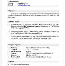 Resume Format For Freshers Computer Science Engineers Free Download Amazing Resume Format For Freshers Computer Science Engineers Free 55