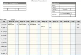 Monthly Time Card Template Monthly Timesheet Template And Mileage