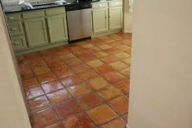 Kitchens With Saltillo Tile Floors Dusty Coyote Stripping And Sealing A Saltillo Tile Floor