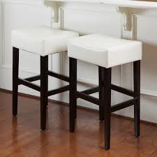 30 inch backless bar stools. Unique Backless Lopez 30inch Ivory Bonded Leather Backless Bar Stools Set Of 2 By And 30 Inch L