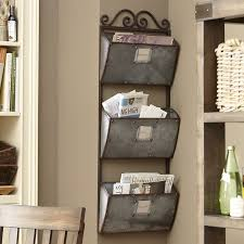 wall organizers home office. vintage metal wall organizer mail sorter letter rack key desk office storage den organizers home