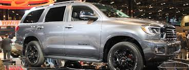 2018 toyota sequoia interior. fine toyota silver 2018 toyota sequoia trd sport front and side exterior on stage  at 2017 cas with toyota sequoia interior