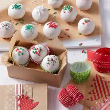 holiday cake balls.  Balls Christmas Cake Balls With Holiday Sprinkles For A