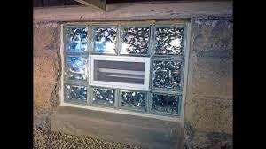 preassembled glass block window installation