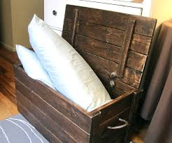 wood storage chest make your own