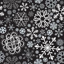 black and white snowflake pattern. Wonderful Black Snowflake Christmas And New Year Seamless Pattern Vector Illustration   Stock Vector Colourbox Inside Black And White Pattern S