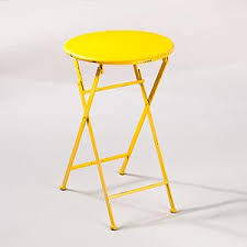 Image Secret Garden Yellow Metal Folding Accent Table Outdoor And Patio Furniture Furniture World Market Decorpad Yellow Metal Folding Accent Table Outdoor And Patio Furniture