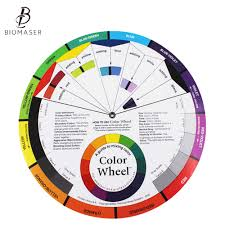Biomaser Ink Chart Permanent Makeup Coloring Wheel For Amateur Select Color Mix Professional Tattoo Pigments Wheel Swatches