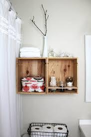 View in gallery DIY wine crate holders in the bathroom