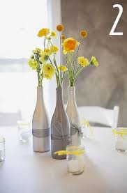 ... wine bottles for your centerpieces? I would like to spray paint them  gold and silver, and fill them with flowers. If you've gone that route, ...