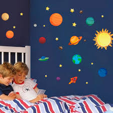 Outer Space Bedroom Decor Online Buy Wholesale Kids Space Wall Stickers From China Kids