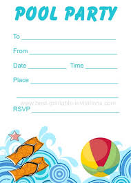 Free Pool Party Invitations Printable Free Printable Pool Party Birthday Invitations Party