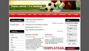 joomla football template. Soccer Red Joomla Theme Template