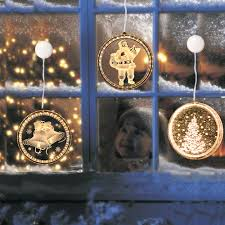 Round Warm White Christmas Lights Us 7 99 30 Off Led Night Light Hanging Christmas Lights Fairy Lights Round 3d Santa Claus Lamp With Suction For Door Window Holiday Decoration In