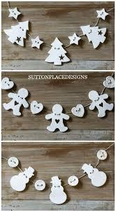 Handmade Air Dry Clay Christmas Ornaments