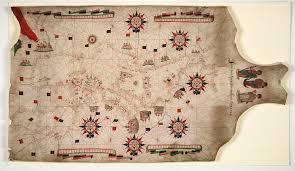Portolan Charts Portolan Chart Of The Mediterranean Trinity College