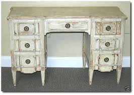 painting wood furniture white attributed jansen distressed white french vanity desk by painting dark wood chairs