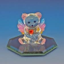 angel bear hand blown glass figurine
