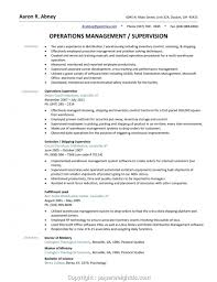 Unique Warehouse Supervisor Resume Objective Resume For