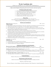 Sample Resume For Hotel Sample Objective In Resume For Hotel And