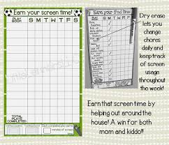 Soccer Playing Time Chart Soccer Earn Your Ipad Tablet Fire Xbox Screen Time Chart Chore Chart Goal Chart Dry Erase Laminated Sports Boy Device Responsibility